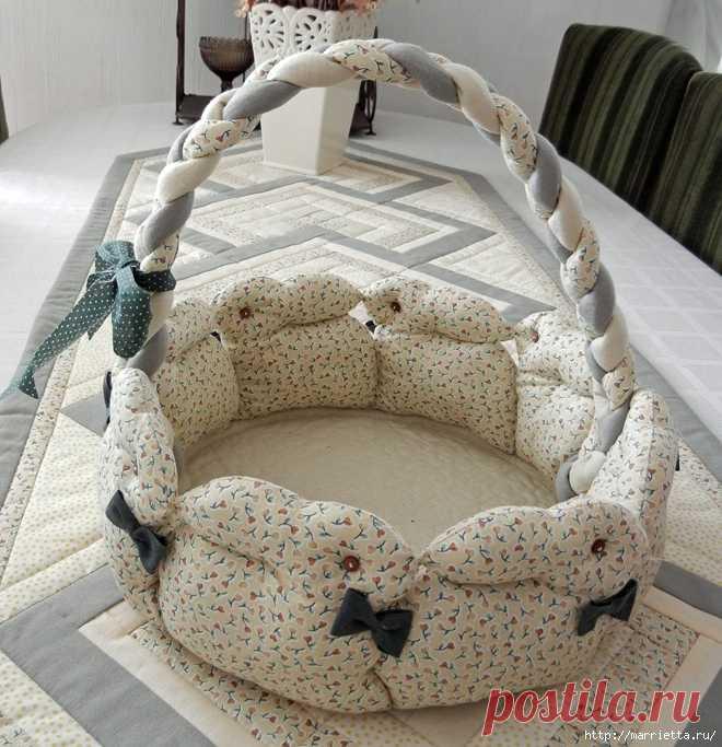 Пасхальная корзинка кролики