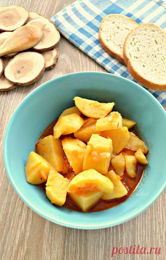 Тушеная картошка - банально, но очень вкусно!