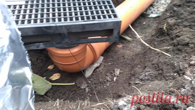 Очень простая, но надежная и эффективная система отвода дождевой воды без лишних дренажных колодцев   Строю для себя   Пульс Mail.ru По совету проектировщика сделал надежную систему отвода дождевой воды