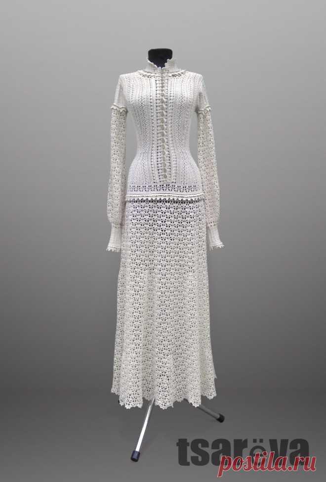 437655fa1c2 Длинное вязаное платье Emma. Крючок