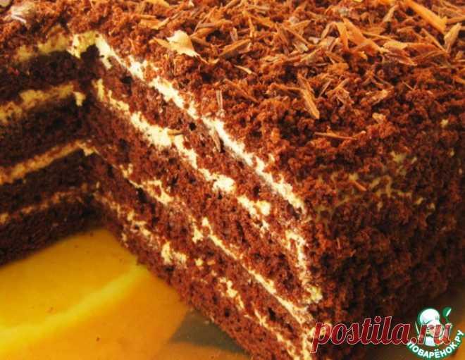 Торт кофейно-шоколадный – кулинарный рецепт