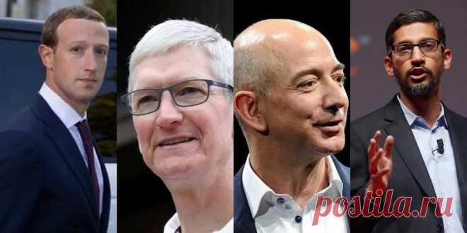 «Вы — монополисты, и с этим надо что-то делать». Google, Facebook, Amazon и Apple выступили по антимонопольному делу Как прошло заседание.