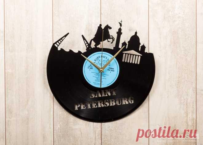 Часы из виниловой пластинки «Санкт-Петербург» купить подарок в ArtSkills: фото, цена, отзывы