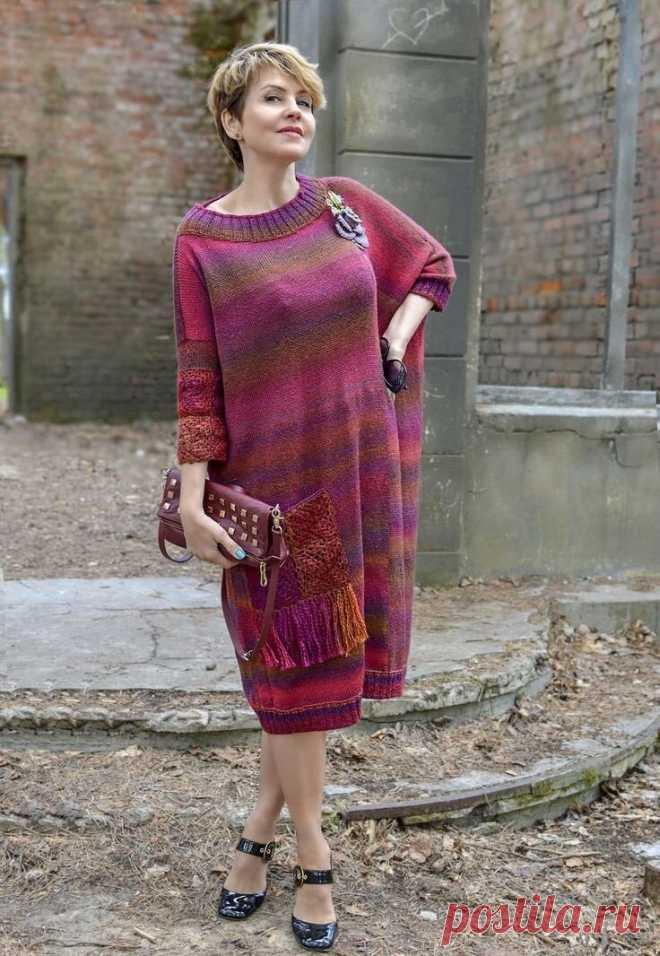 Стильные вязанные платья для женин 45+, а для рукодельниц это вообще находка | Мне 40 | Яндекс Дзен