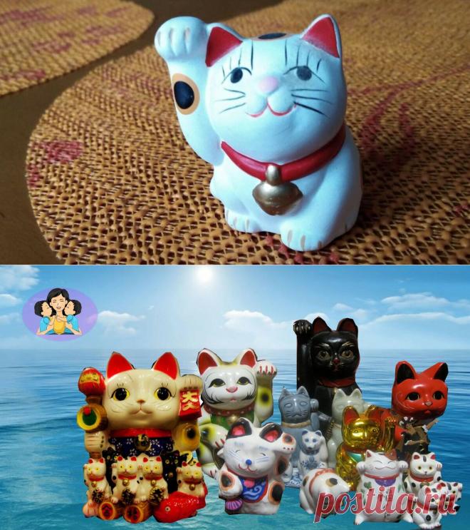 Котик с поднятой лапкой -история