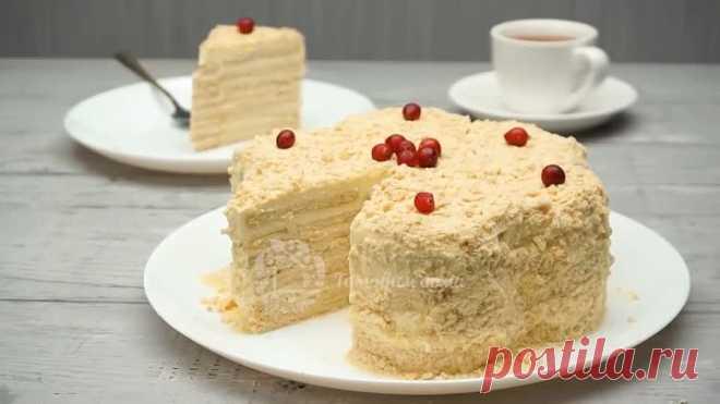 Вкуснейший ТОРТ за 20 минут БЕЗ ВЫПЕЧКИ! Очень легкий и вкусный торт