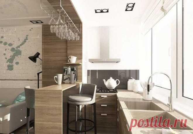 Идеи дизайна кухни с балконом Одним из самых удачных вариантов планировки являются квартиры, в которых балкон или лоджия находятся на кухне. Вот где появляется масса возможностей для реализации дизайнерских задумок. Использовать т...
