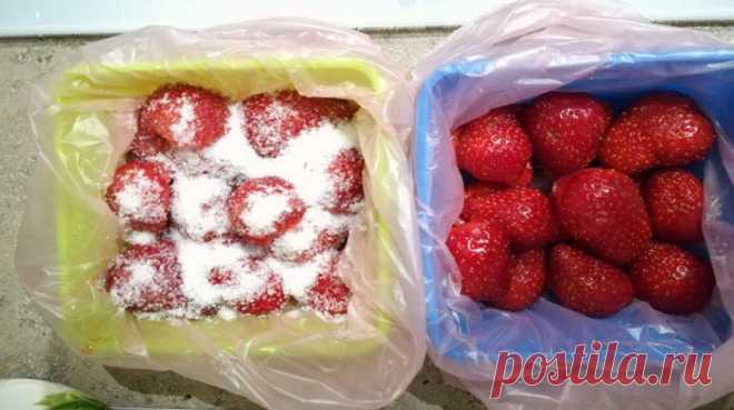 How to freeze strawberry. Simple cunnings