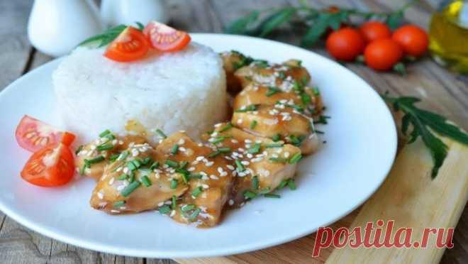 Курица терияки за 15 минут. Попробуй, очень вкусно.