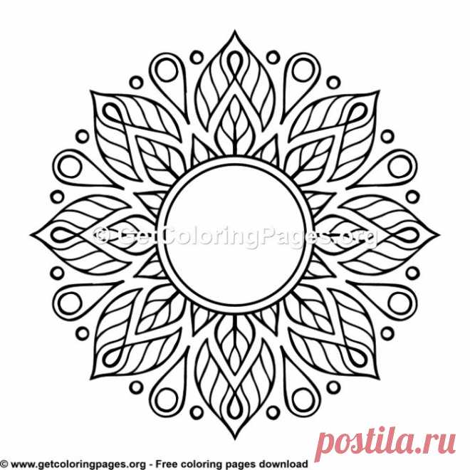 Ethic Style Mandala 18 Coloring Pages – GetColoringPages.org