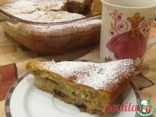 Грушевый пирог с шоколадом Кулинарный рецепт