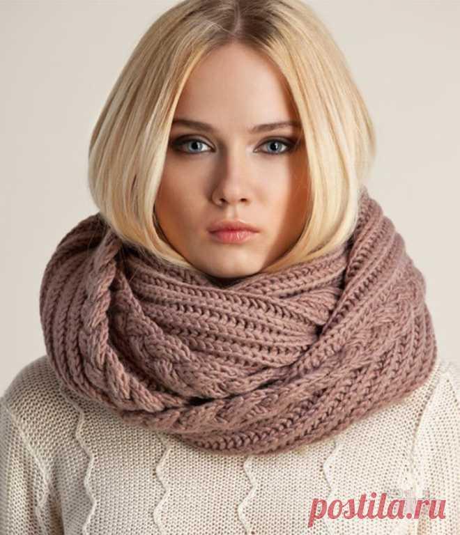 Снуд спицами для женщин: схемы вязания, новинки, узоры, размеры.