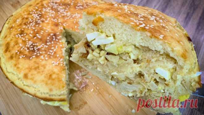 Заливной пирог с капустой В капустный сезон, предлагаю испечь вкусный пирог.Рецепт:Для начинки:Капуста белокочанная - 500 г.Яйцо варёное - 4 шт.Соль - по вкусуСахар - по вкусуМолоко - 4 ст.лМасло растительное - 40 мл.Для теста:Мука - 2 стаканаКефир - 2 стаканаМасло растительное - 30 мл.Разрыхлитель - 1 пакетикСоль...