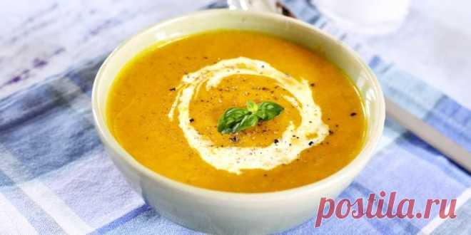 Крем-суп с тыквой, имбирём, корицей и мускатным орехом