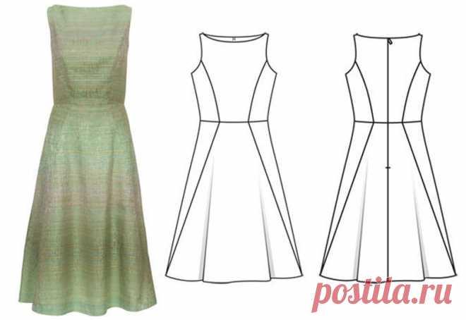 Обработка лифа платья подкладкой — Мастер-классы на BurdaStyle.ru