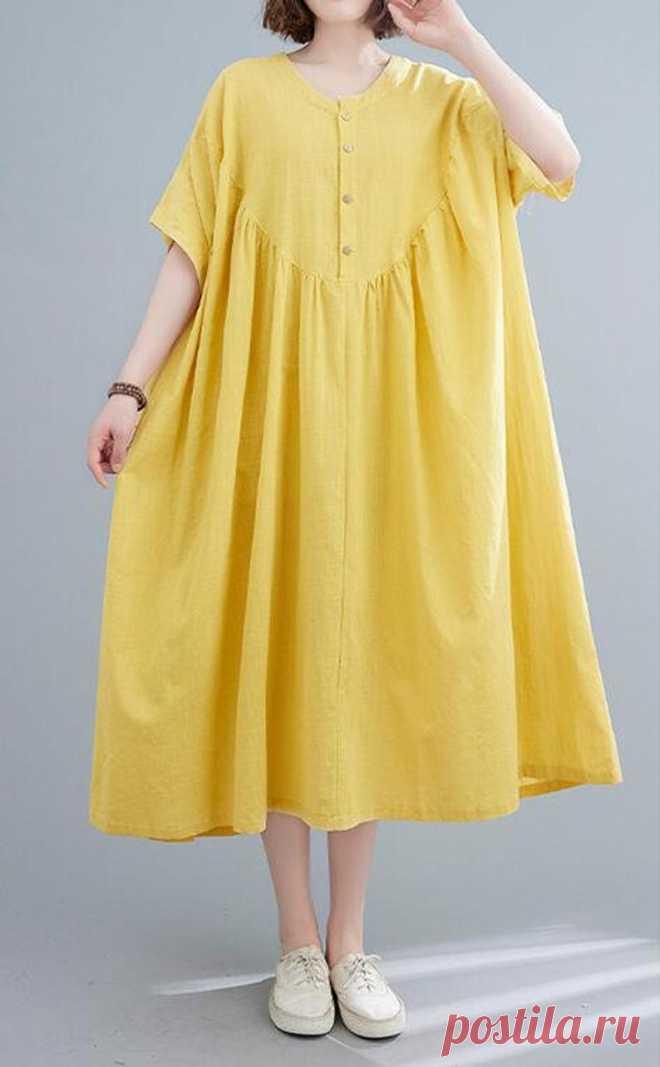 Womens oversized dress large size dress summer Loose Fitting | Etsy