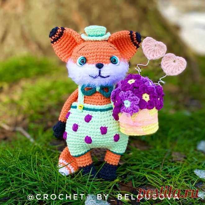 PDF Лис Мистер Дарси крючком. FREE crochet pattern; Аmigurumi animal patterns. Амигуруми схемы и описания на русском. Вязаные игрушки и поделки своими руками #amimore - Лиса, лисица, лисёнок, лисичка.