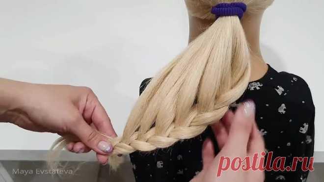 Пучок из Косы. Простой вариант сделать СЕБЕ. Braid Hairstyle. A Simple option to