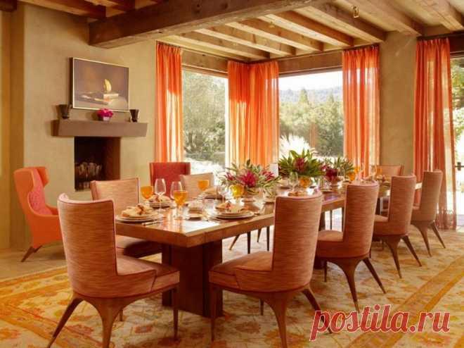 Летний персиковый цвет в интерьере | Наши дома