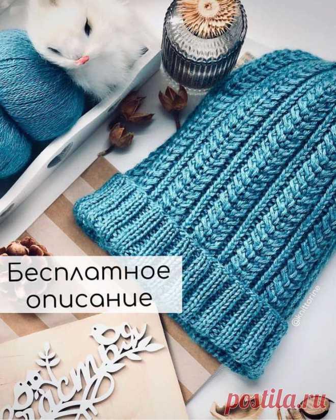 БЕСПЛАТНОЕ ОПИСАНИЕ шапочки с красивым рисунком – Журнал Вдохновение Рукодельницы