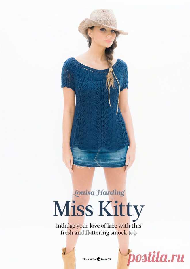 Топ спицами Miss Kitty, The Knitter 59
