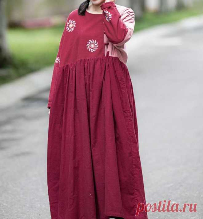Cotton maxi dress Oversized Dress womens long Vintage   Etsy