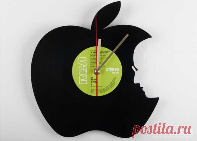 Часы из виниловой пластинки «Гениально!» купить подарок в ArtSkills: фото, цена, отзывы