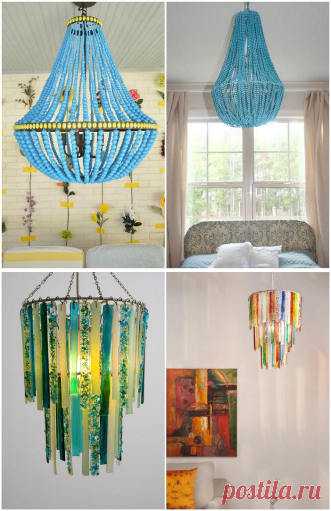 19 очаровательных идей создания и декора светильников
