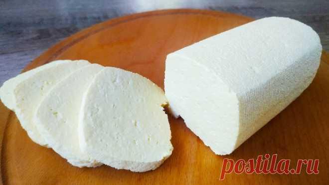 Домашний сыр без соды и ферментов за 15 минут из 3-х ингредиентов!