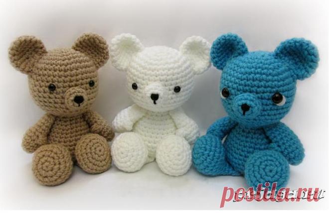 игрушки крючком медведи вязаные игрушки постила