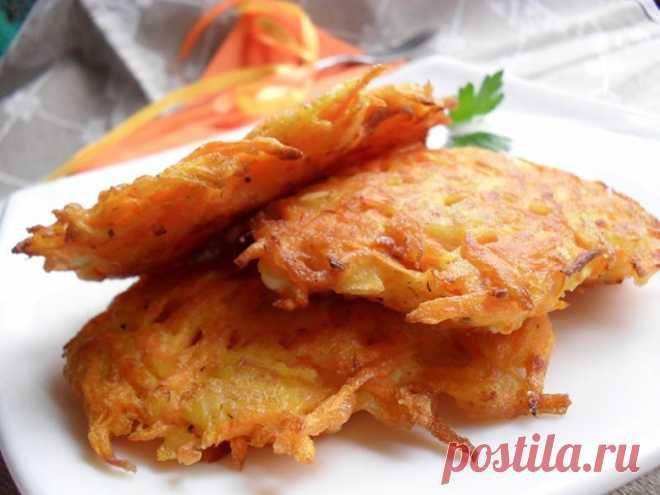 Диетические оладьи из моркови и яблок Представляем вам рецепт отличного блюда к завтраку. Такие оладьи понравятся даже самым привередливым деткам.Получаются яркие, сочные и очень ароматные. Готовятся оладьи просто и довольно быстро. Необходимые продукты 1...