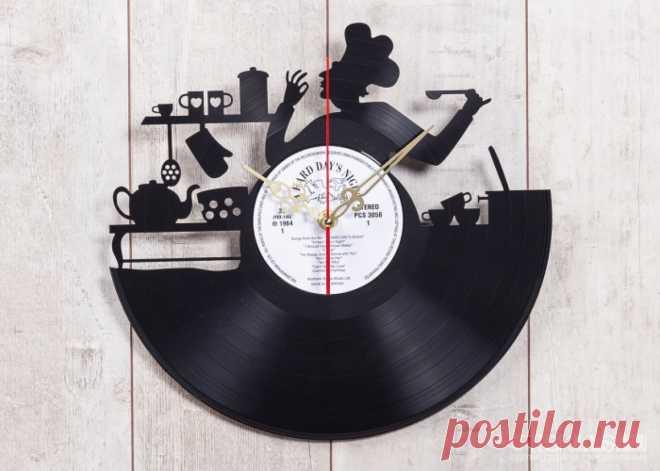 Часы из виниловой пластинки Bon Appetite! купить подарок в ArtSkills: фото, цена, отзывы