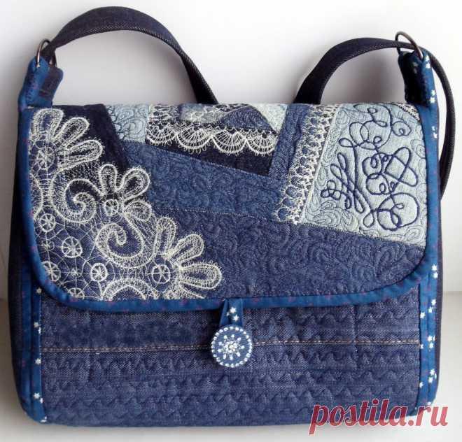 d3d1ec2f Как сшить сумку из мешковины, джинсовой ткани, из кожи своими руками? Схемы  пляжной