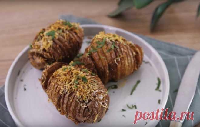 Хрустящий картофель с пармезаном