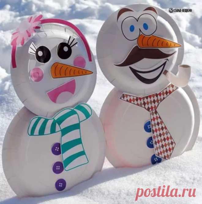 Открытки, картинки снеговик своими руками