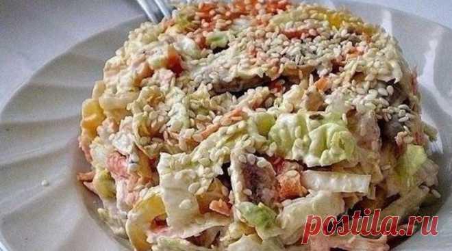 Салат с пекинской капустой «Переполох»