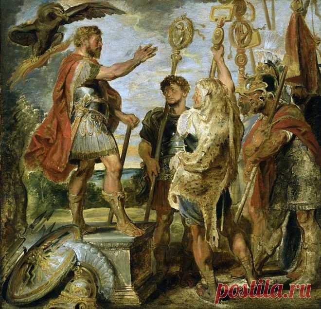 Деций Мус обращается к легионерам. Питер Пауль Рубенс. Описание картины, скачать репродукцию.