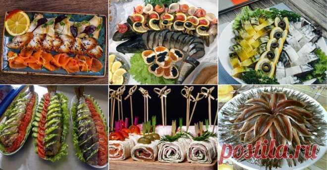 Идеи для оформления рыбной нарезки Главное, чтобы в хозяйстве имелся широкий острый нож.
