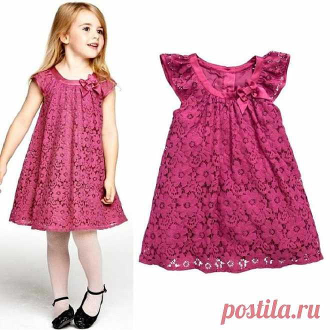 Платье для девочки от 1 до 14 лет. Выкройки.