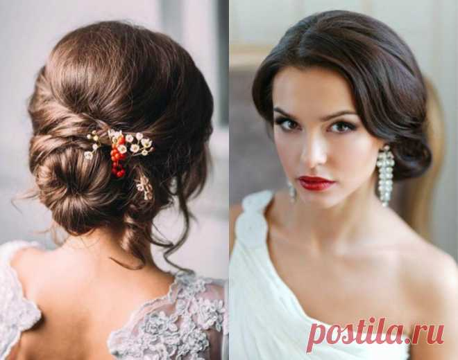 Свадебные причёски на каре: варианты и аксессуары для волос (фото)