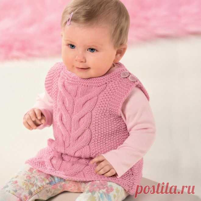 Розовый жилет для девочки спицами | Моё хобби.Вязание для детей. | Яндекс Дзен