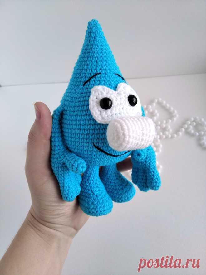 PDF Капитошка Антошка крючком. FREE crochet pattern; Аmigurumi toy patterns. Амигуруми схемы и описания на русском. Вязаные игрушки и поделки своими руками #amimore - капитошка, капля, капелька.