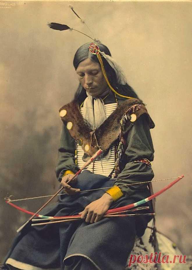 Коренные народы Северной Америки на редких цветных фотографиях столетней давности