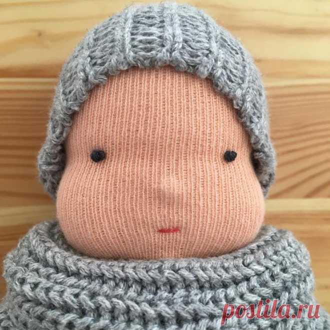 Waldorf rag doll Waldorf deer fabric winter doll with beanie   Etsy