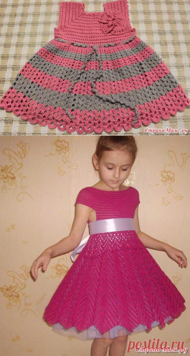 Платье для девочки крючком..