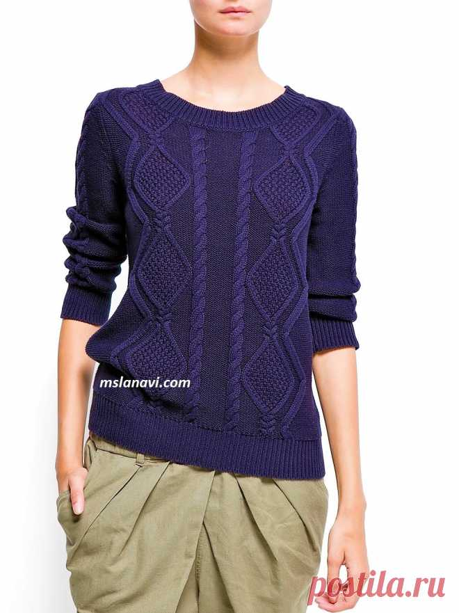 Knitted sweater with diamond-shaped arana | we Knit with Lanah Vee