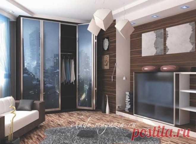 4-х дверный шкаф с фотопечатью и складными дверьми на заказ в Москве: фото, стоимость