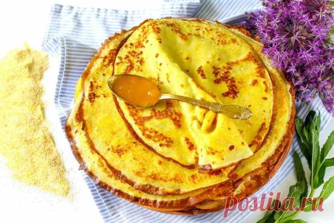Блины из кукурузной муки рецепт с фото пошагово - 1000.menu