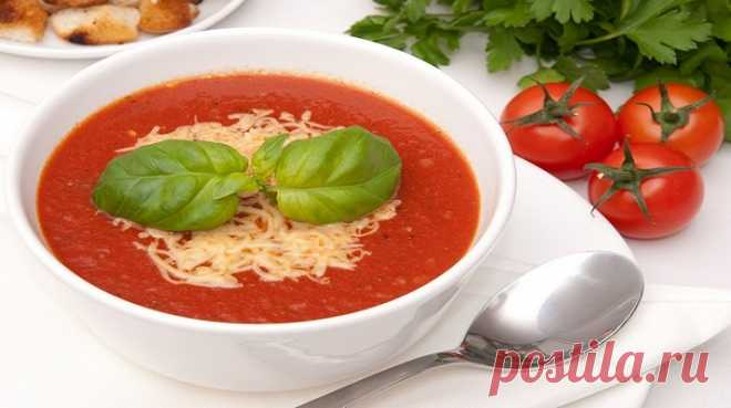 Турецкий суп с томатом и сыром - Очень вкусно