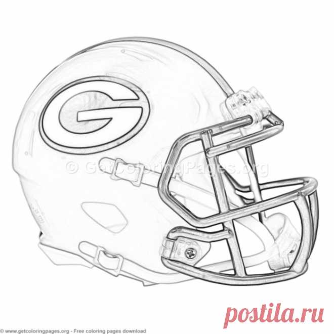 Grayscale Green Bay Packers Football Helmet Coloring Pages 8211 GetColoringPagesorg
